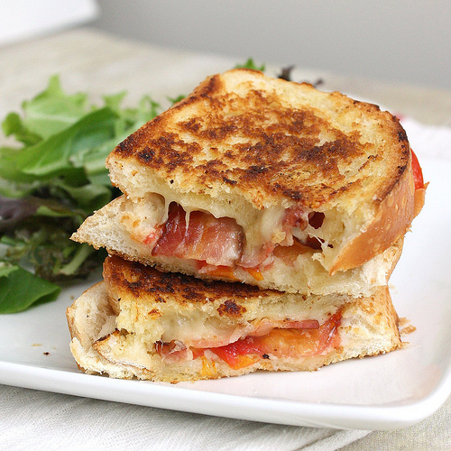 Grilled Cheese with Bacon