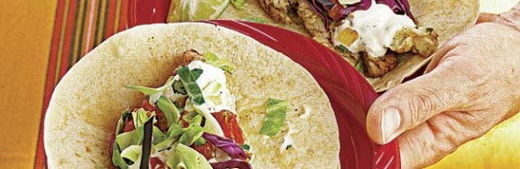 Grilled Red Snapper Tacos With Black-Bean Salsa