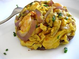 Malaysian omelet